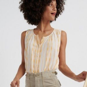 NWT Lucky Brand Flowy Button up Tank Top